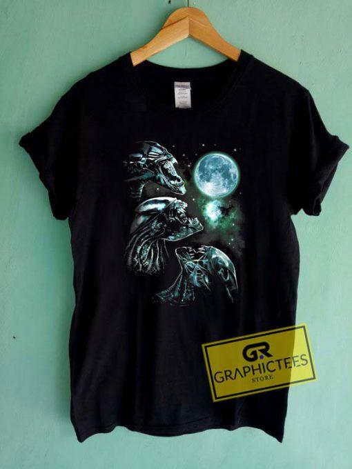 Aliens Movie Alien Howl Tee Shirts