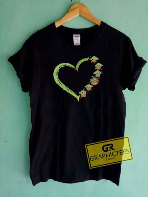 Baby Yoda HeartTee Shirts