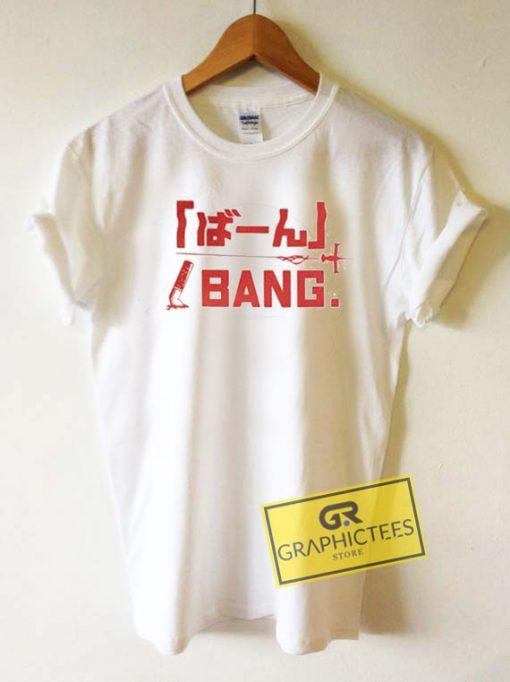 Bang Anime Letter Tee Shirts