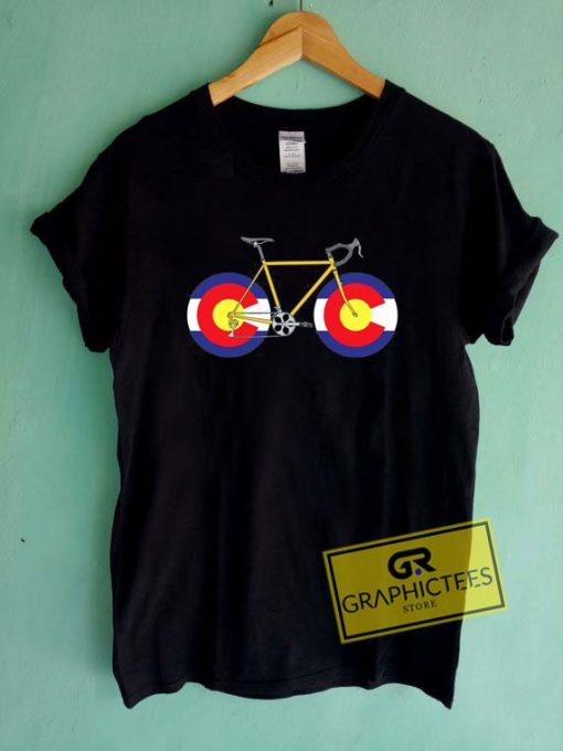 Colorado Flag Bicycle Tee Shirts