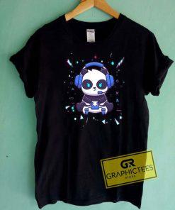 Cool Panda Gamer Tee Shirts