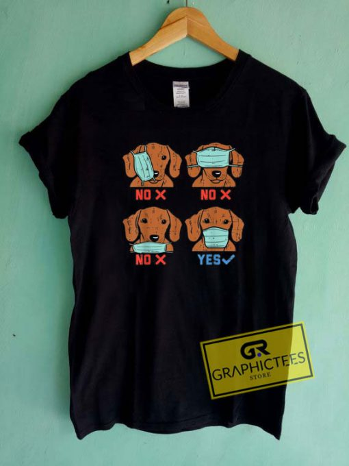 Dachshund Face MaskTee Shirts