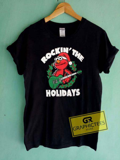 Elmo Rockin The HolidaysTee Shirts