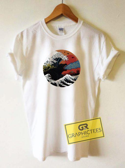 Godzilla The Great Wave Tee Shirts