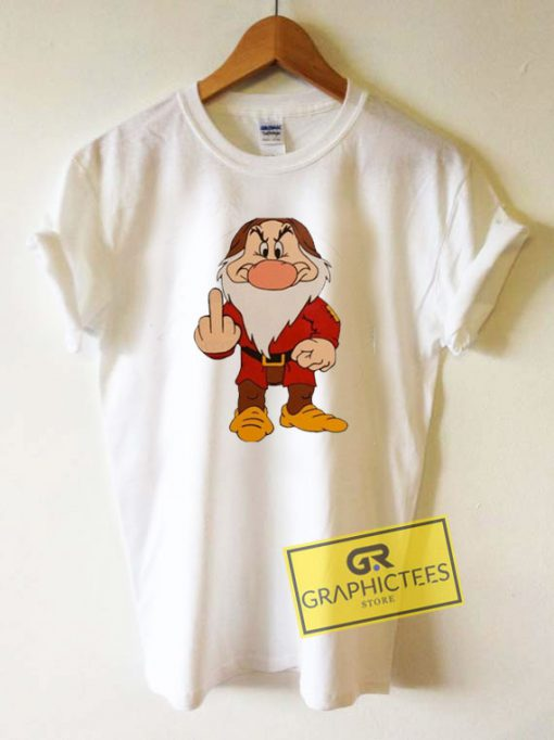 Grumpy Dwarf Middle Finger Tee Shirts