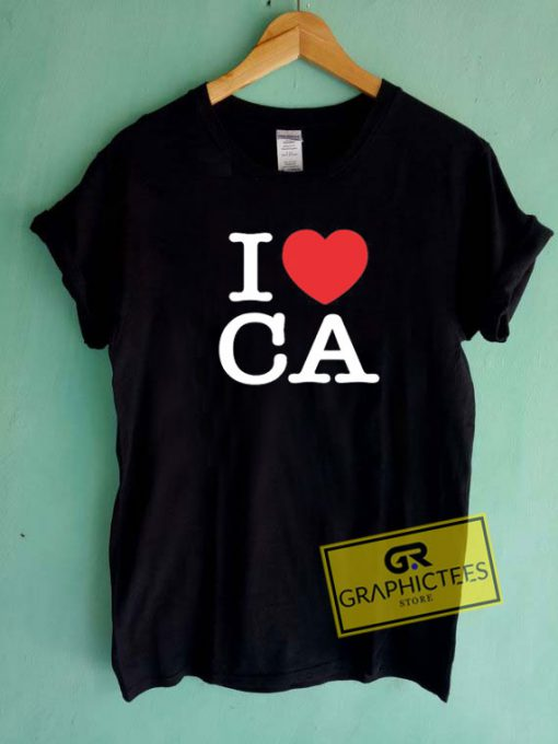 I Heart Ca Love Tee Shirts