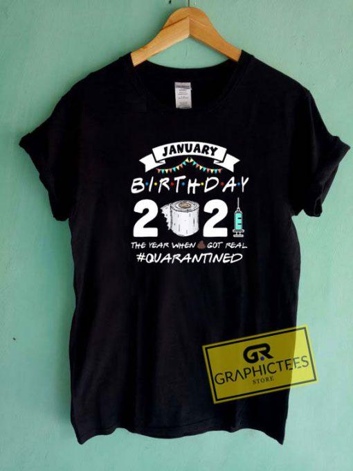 January 2021 Birthday Tee Shirts