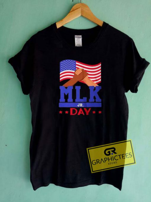 MLK Jr Day Usa Flag Tee Shirts