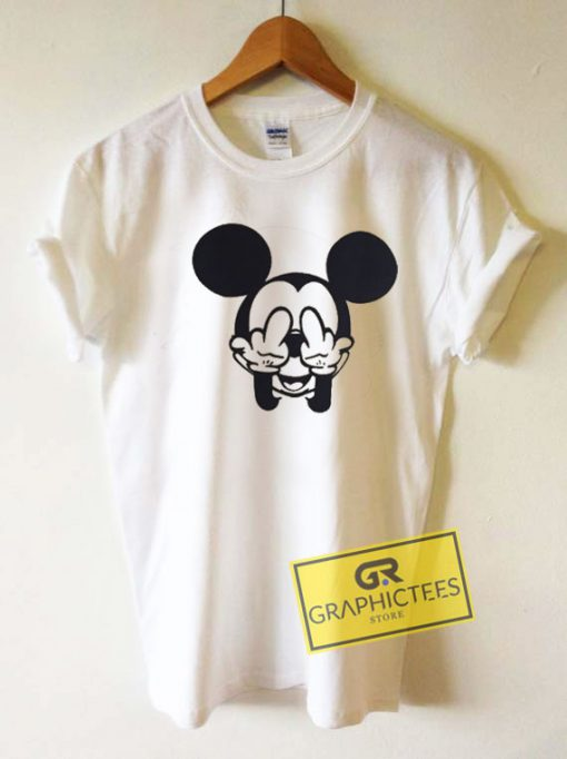 Middle Finger Mickey Mouse Tee Shirts