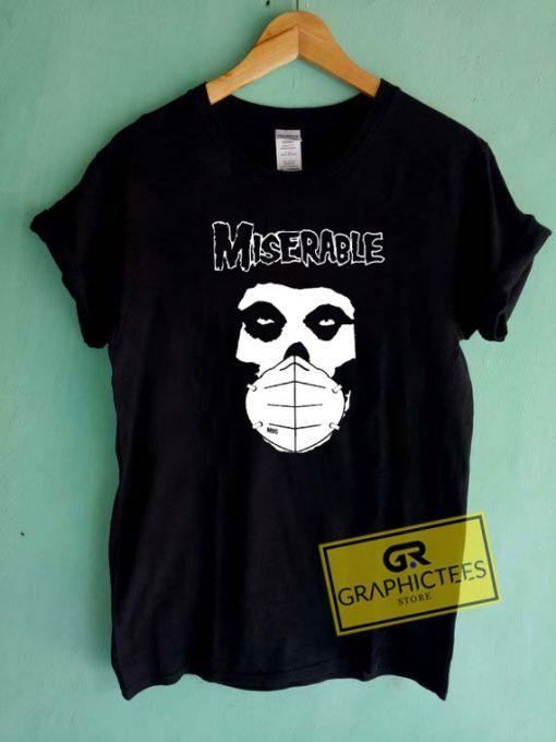 Miserable Skull MaskTee Shirts