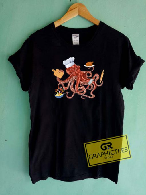 Octopus Chef CookingTee Shirts