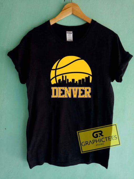 Retro Denver Basketball Tee Shirts
