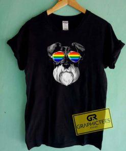 Schnauzer Gay Pride Tee Shirts