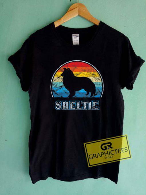 Sheltie VintageTee Shirts