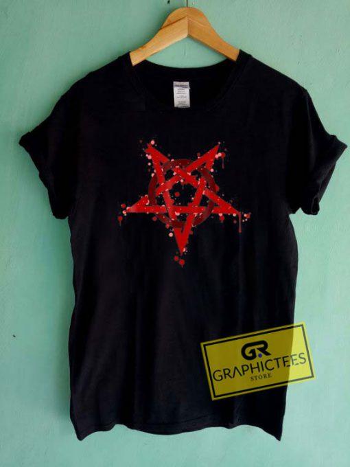 Short Sleeve PentagramTee Shirts