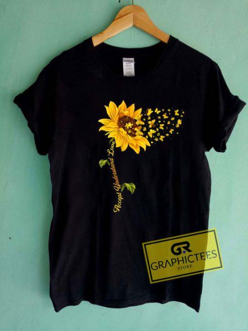 Sunflower ButterflyTee Shirts
