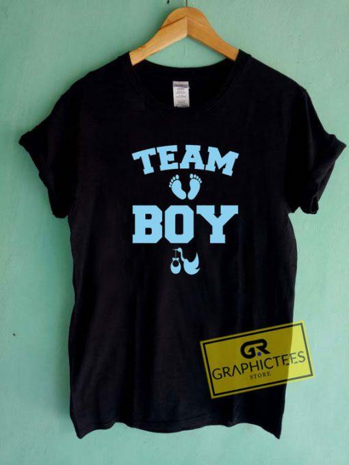 Team Boy Gender Tee Shirts