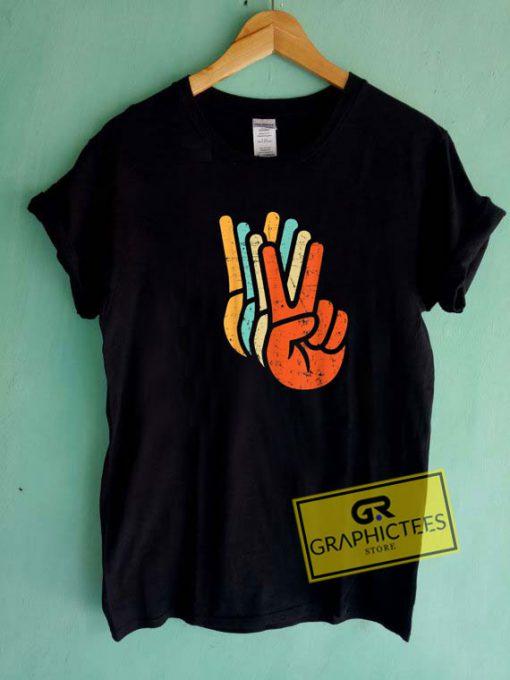 Vintage Peace Sign Hand Tee Shirts