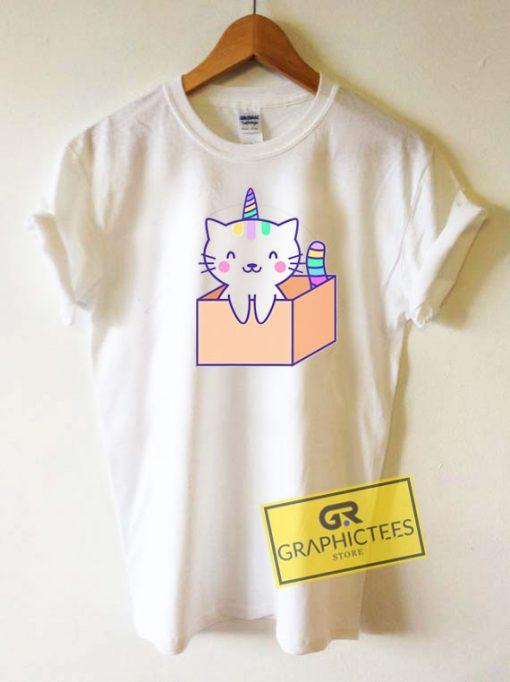 Womens Funny Cat UnicornTee Shirts