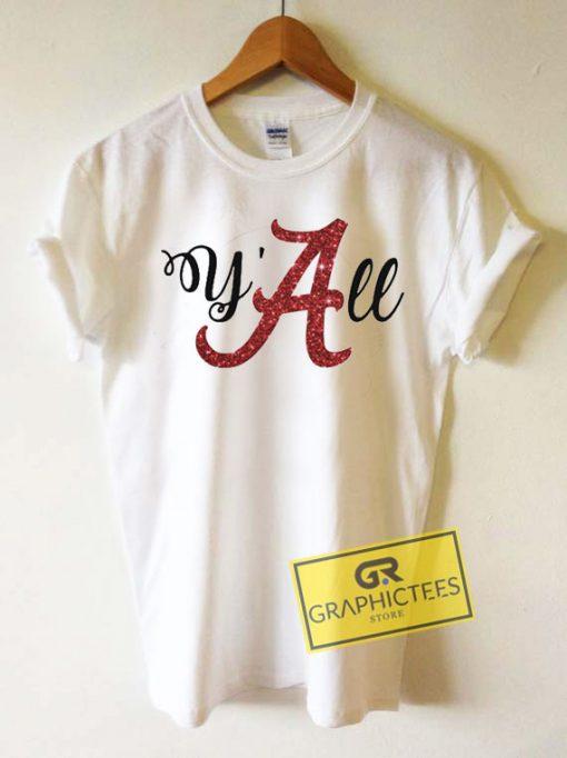 Yall Alabama CrimsonTee Shirts