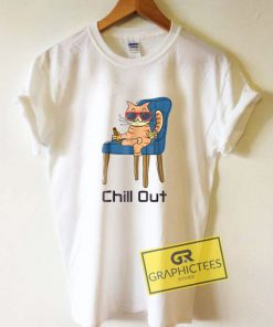 Chill Out Orange Cat Tee Shirts