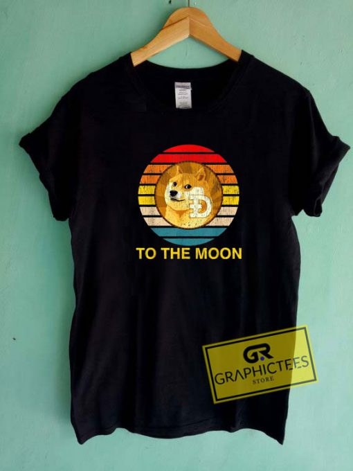 Doge To The Moon Vintage Tee Shirts