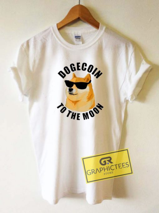 Dogecoin To The Moon Cool Tee Shirts