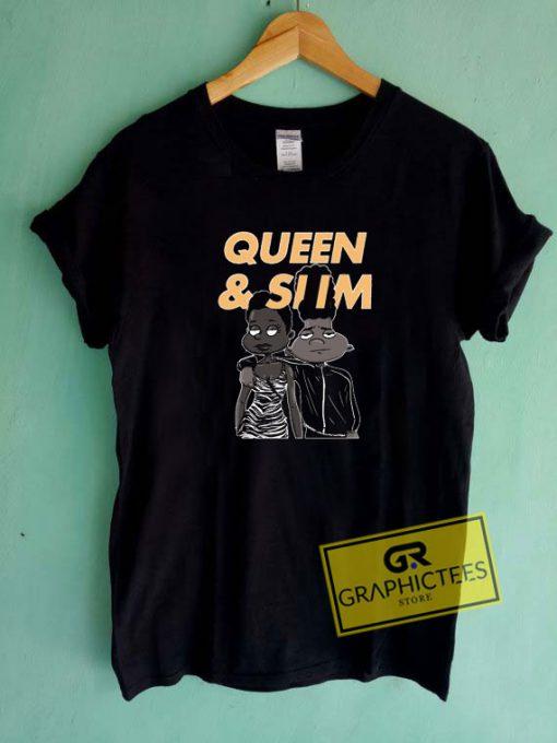 Queen And Slim Cartoon Tee Shirts