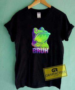 Bruh Frog Print Tee Shirts