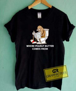 Funny Peanut Butter Lettering Tee Shirts