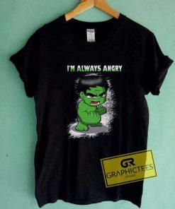 Hulk Im Always Angry Chibi Tee Shirts