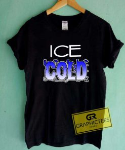 Ice Cold Art Lettering Tee Shirts