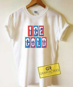 Ice Cold Lettering Tee Shirts