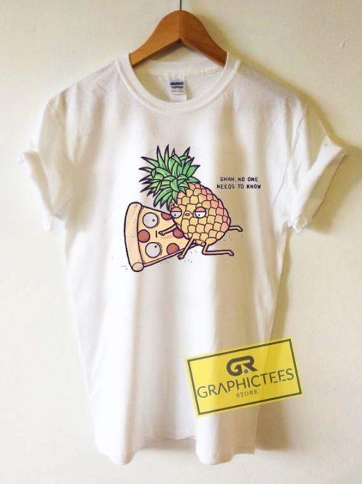 Pineapple Pizza Cartoon Meme Tee Shirts