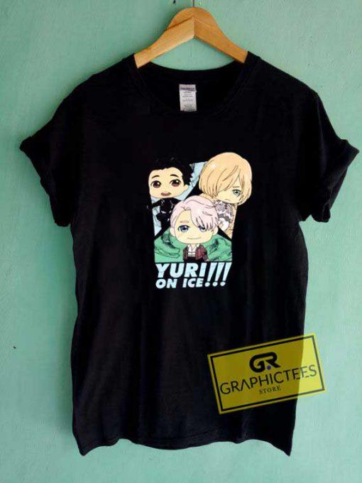 Yuri On Ice Chibi Poster Tee Shirts