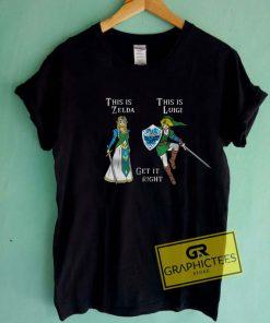 Zelga And Luigi Tee Shirts